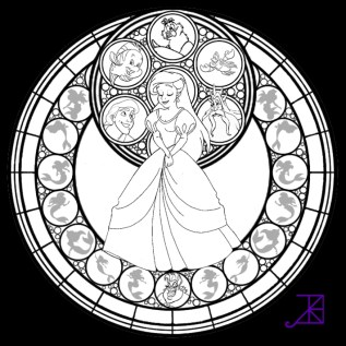 Printable Stained Glass Coloring Pages 64912