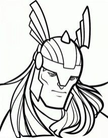 Printable Thor Coloring Pages Online 85256