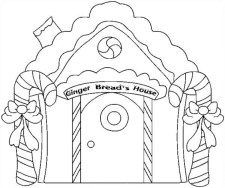 Printables for Toddlers Gingerbread House Coloring Pages Online Free qKF3G
