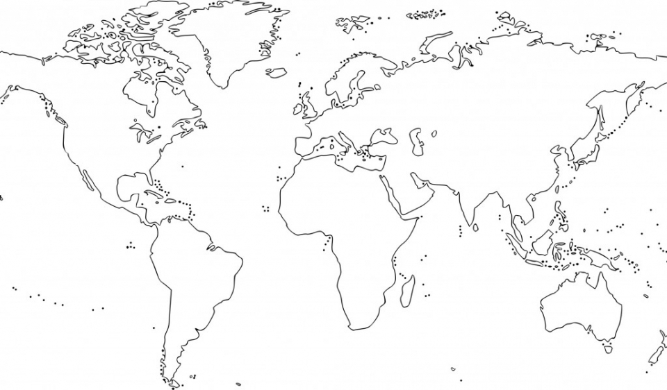 Printables for Toddlers   World Map Coloring Pages Online Free   m7pzl