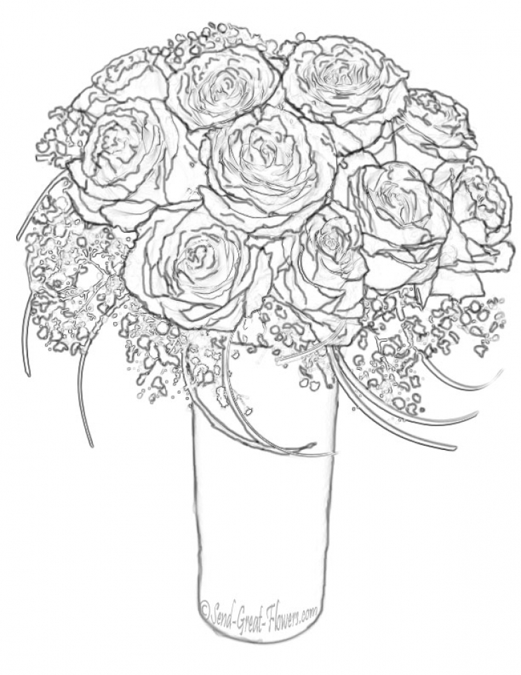 20+ Free Printable Roses Coloring Pages for Adults ...