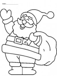 Santa Coloring Page Free Printable 13110