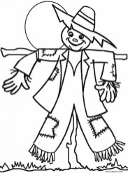 Scarecrow Coloring Pages for Toddlers xM7zV