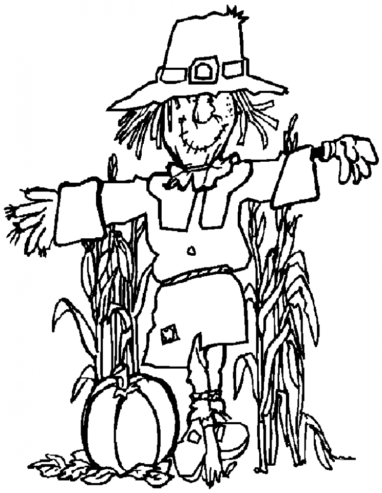 Get This Scarecrow Coloring Pages to Print for Kids KIFps !
