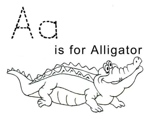 Simple Alligator Coloring Pages to Print for Preschoolers cdsxi