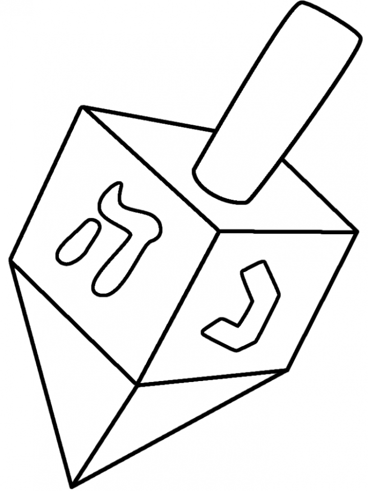 Simple Hanukkah Coloring Pages to Print for Preschoolers   kbld1