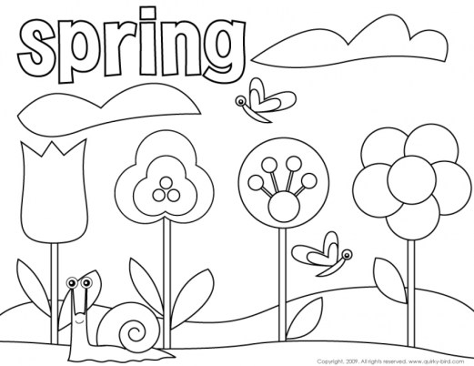 Spring Coloring Pages Free for Kids e9bnu