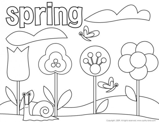 Spring Coloring Pages Printable for Kids r1n7l