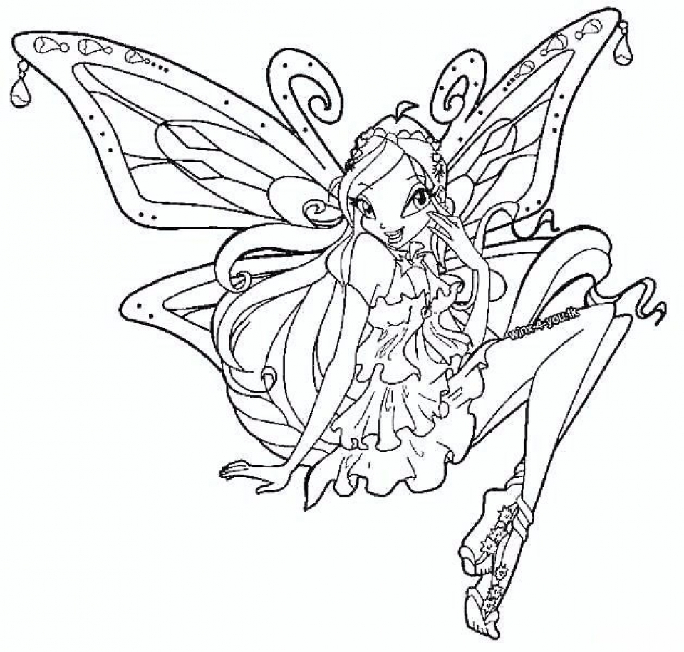 Winx Club Coloring Pages to Print Online   lj8rr
