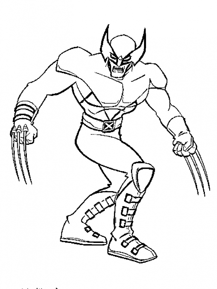 Wolverine Coloring Pages Free to Print   JU7zm