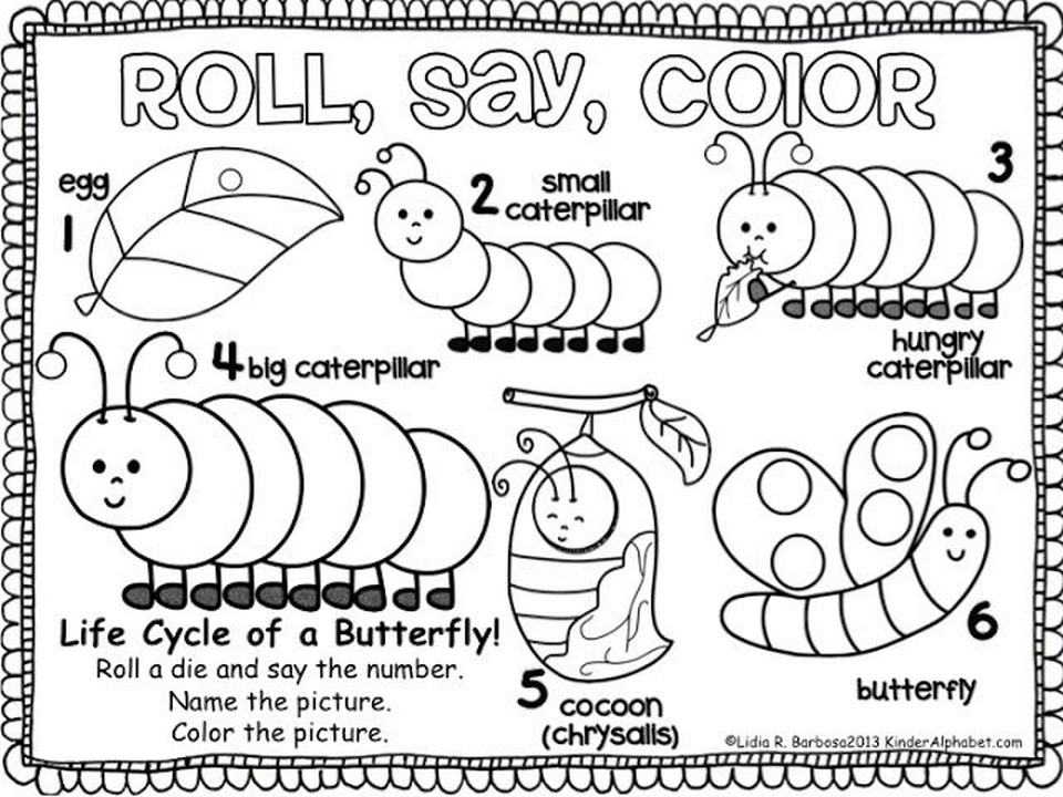 The Very Hungry Caterpillar Coloring Pages Free for Kids - 67482