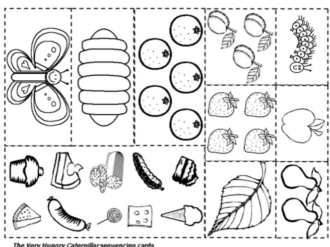 The Very Hungry Caterpillar Coloring Pages Free For Kids 67491