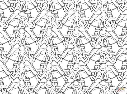 Adult Printable Tessellation Coloring Pages 6cv4n