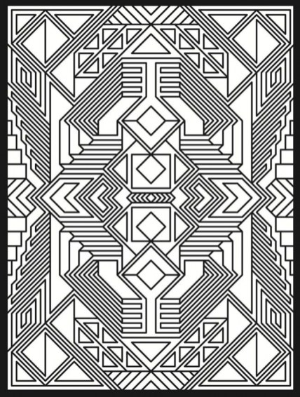 Art Deco Patterns Coloring Pages for Adults Free to Print cb6898nm