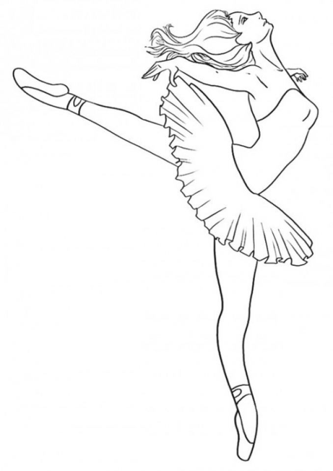 Ballerina Coloring Pages for Kids   34731