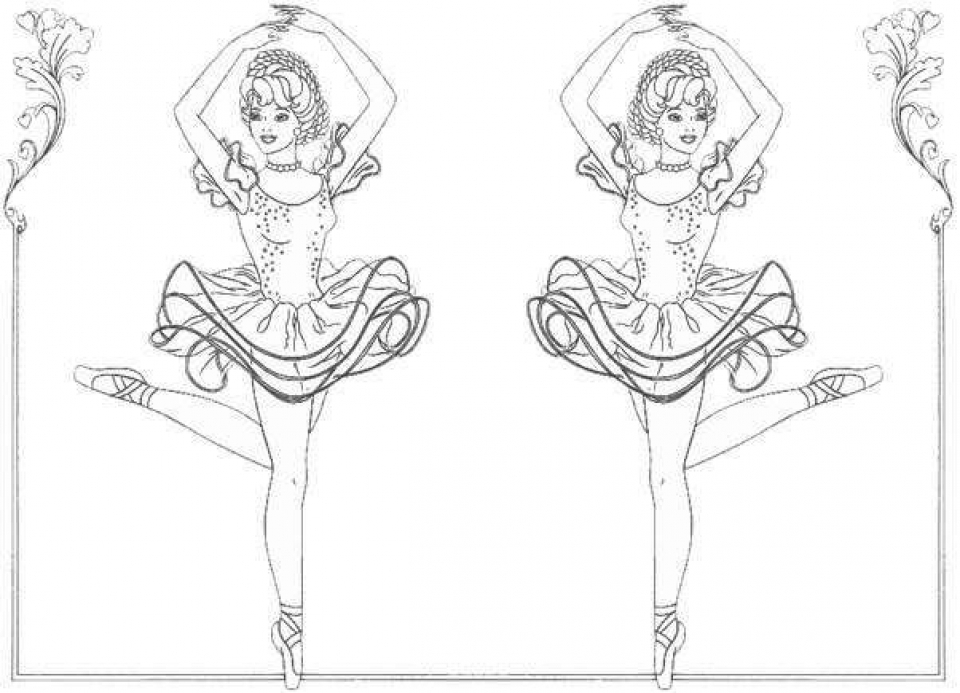 20+ Free Printable Ballerina Coloring Pages - EverFreeColoring.com