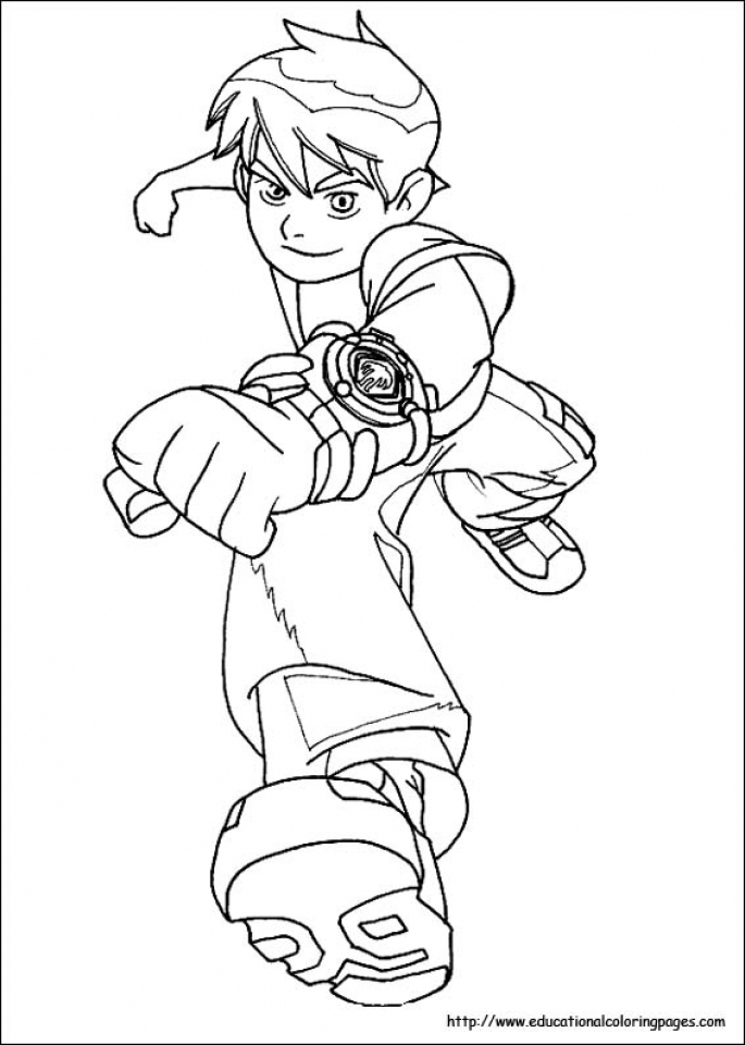 Ben 10 Coloring Pages Free Printable   u043e