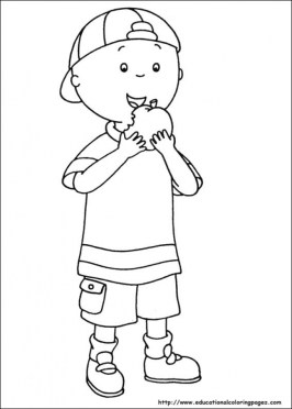 Caillou Coloring Pages Free Printable u043e