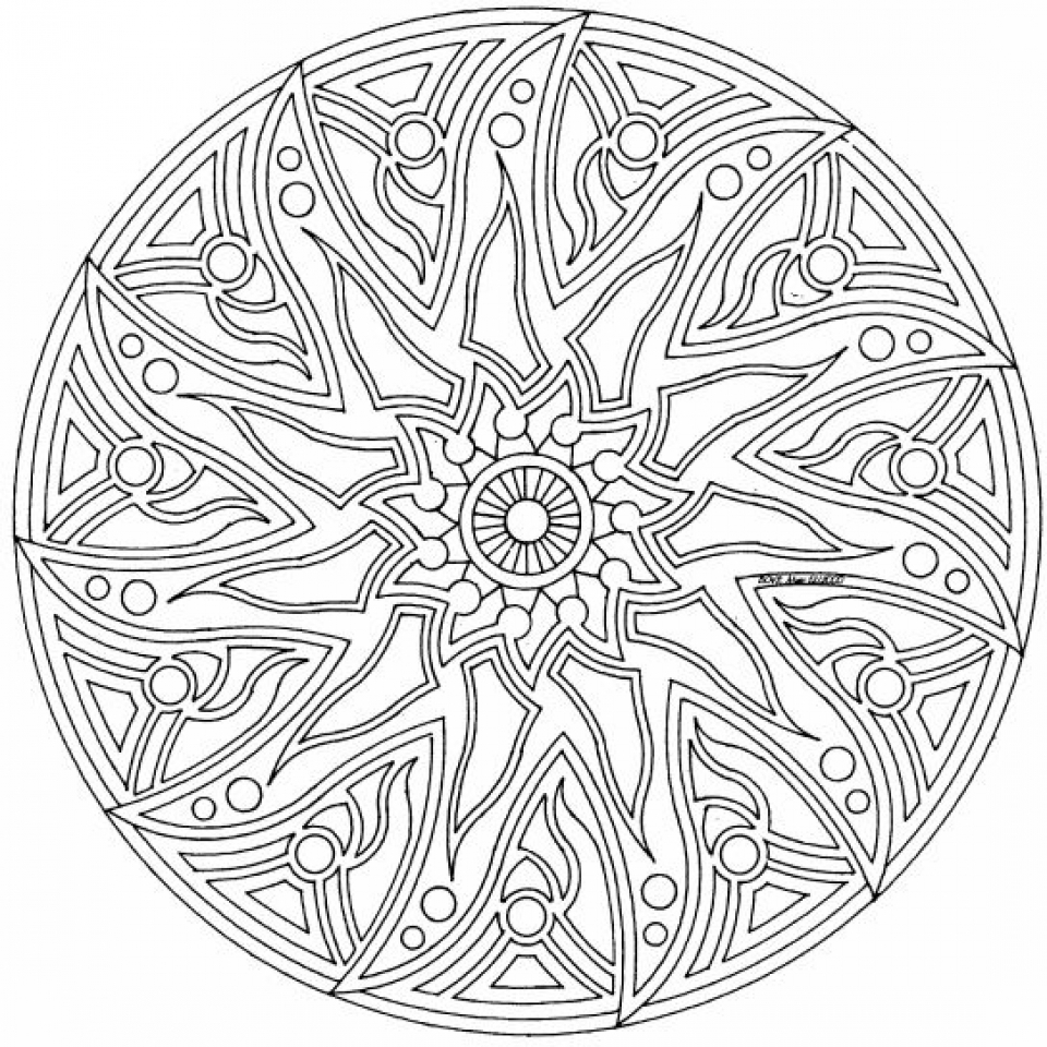 Get This Complex Coloring Pages for Adults 34BV7