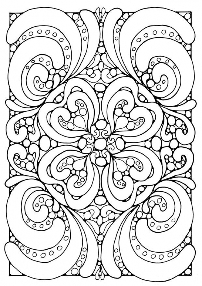 Complex Coloring Pages for Adults   3B57V