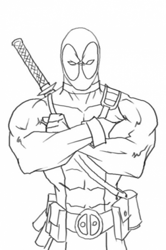 Deadpool Coloring Pages Free Printable   655755