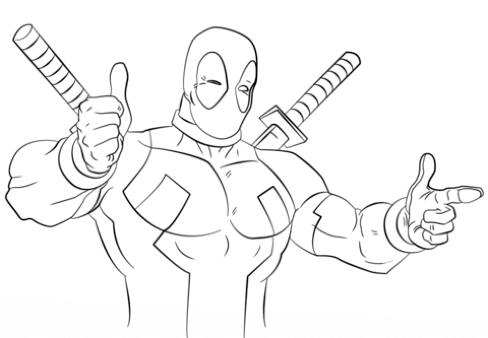 Deadpool Coloring Pages Free Printable   772662