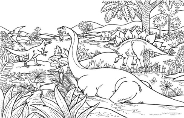 free printable dinosaur coloring pages # 36