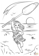 Disney Moana Coloring Pages TGZ45