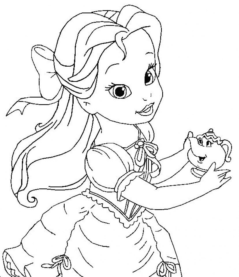 Disney Princess Coloring Pages Free Printable   253843