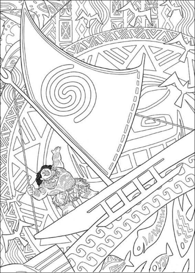 Disney Princess Moana Coloring Pages to Print   AF796