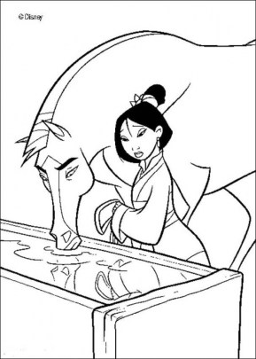 Disney Princess Mulan Coloring Pages ra4t3