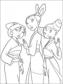 Disney Princess Mulan Coloring Pages ta219