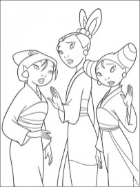 Disney Princess Mulan Coloring Pages ta219