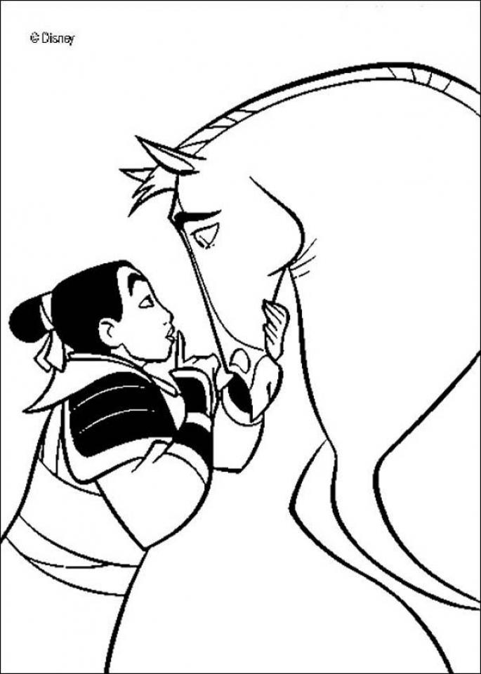 Disney Princess Mulan Coloring Pages   yt694