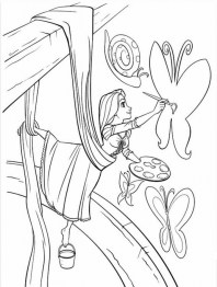 Disney Princess Rapunzel Coloring Pages UX6V4