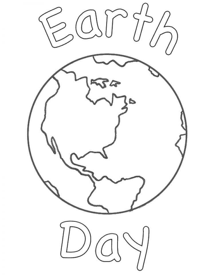 Earth Coloring Pages Free Printable jcaj9