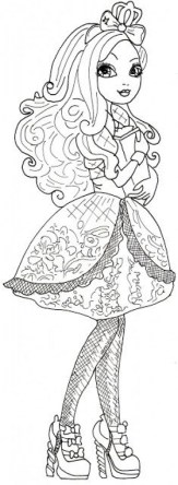 Ever After High Coloring Pages for Girls DER34