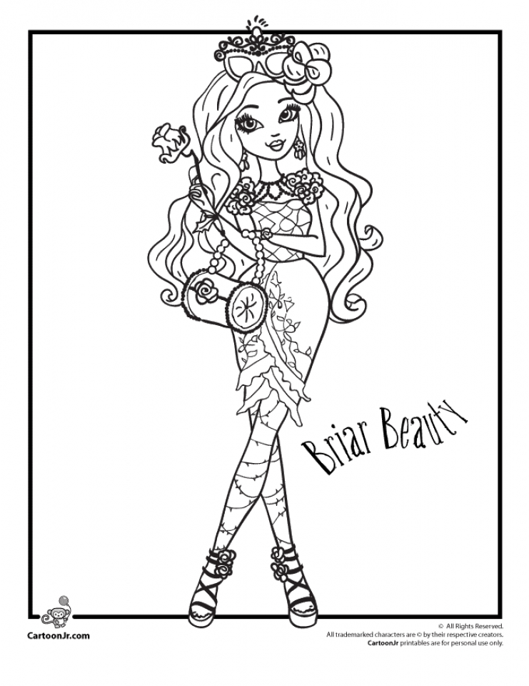 Ever After High Coloring Pages for Girls   VBN87