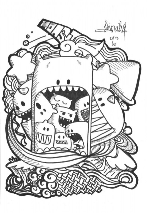 Exciting Doodle Art Grown up Coloring Pages Free 76cf6
