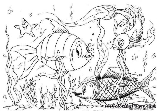 Fish Coloring Pages Free Printable 606710