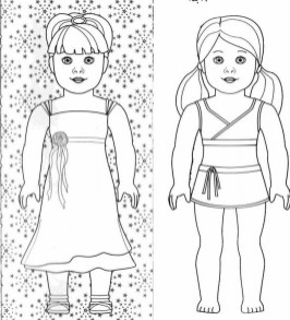 Free American Girl Coloring Pages 18fg19