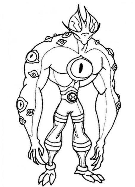 Free Ben 10 Coloring Pages to Print 6pyax