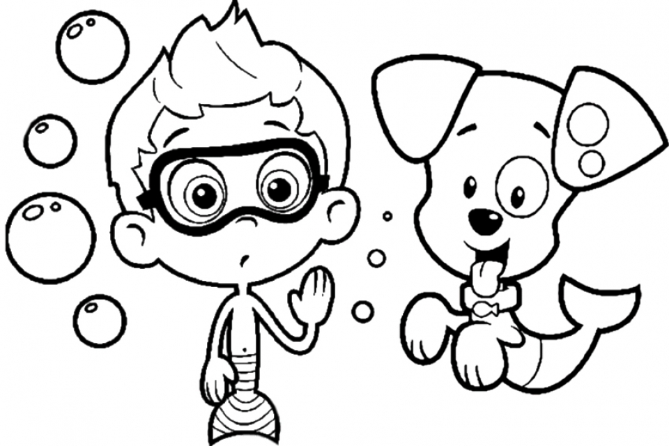 Free Bubble Guppies Coloring Pages   467386