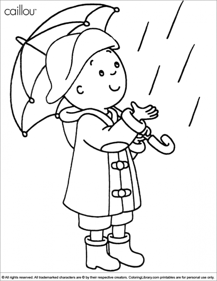 Free Caillou Coloring Pages to Print   v5qom