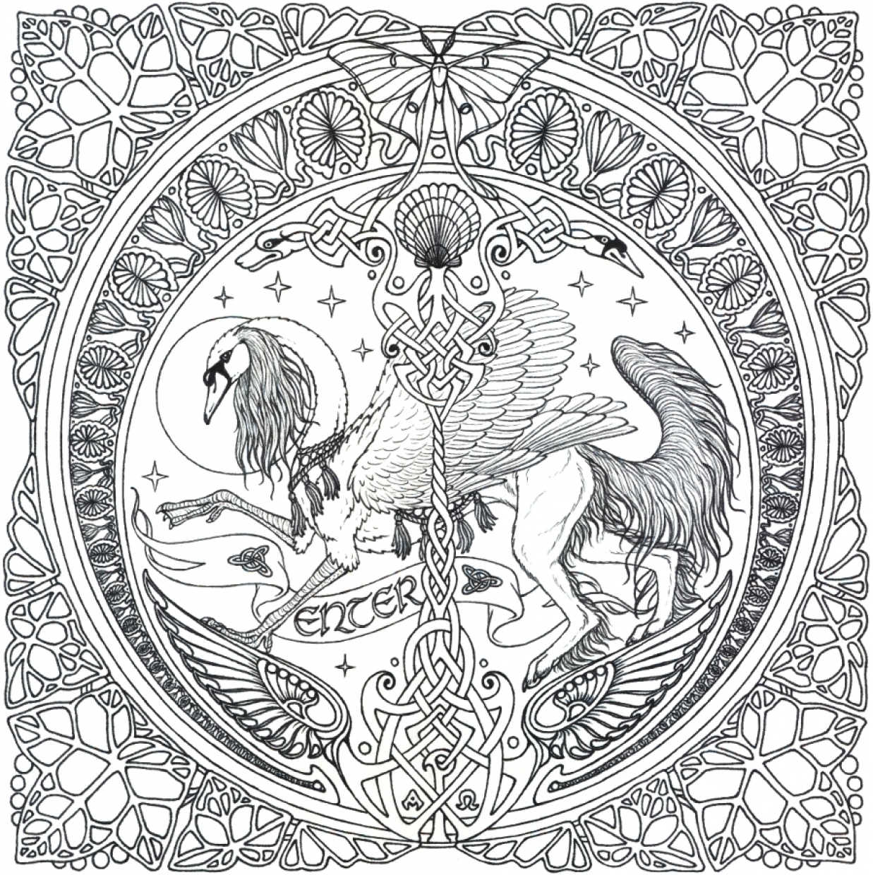 Free Complex Coloring Pages to Print for Adults   S4VHY