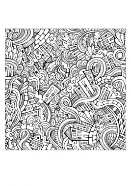 Free Doodle Art Coloring Pages for Adults uhb61
