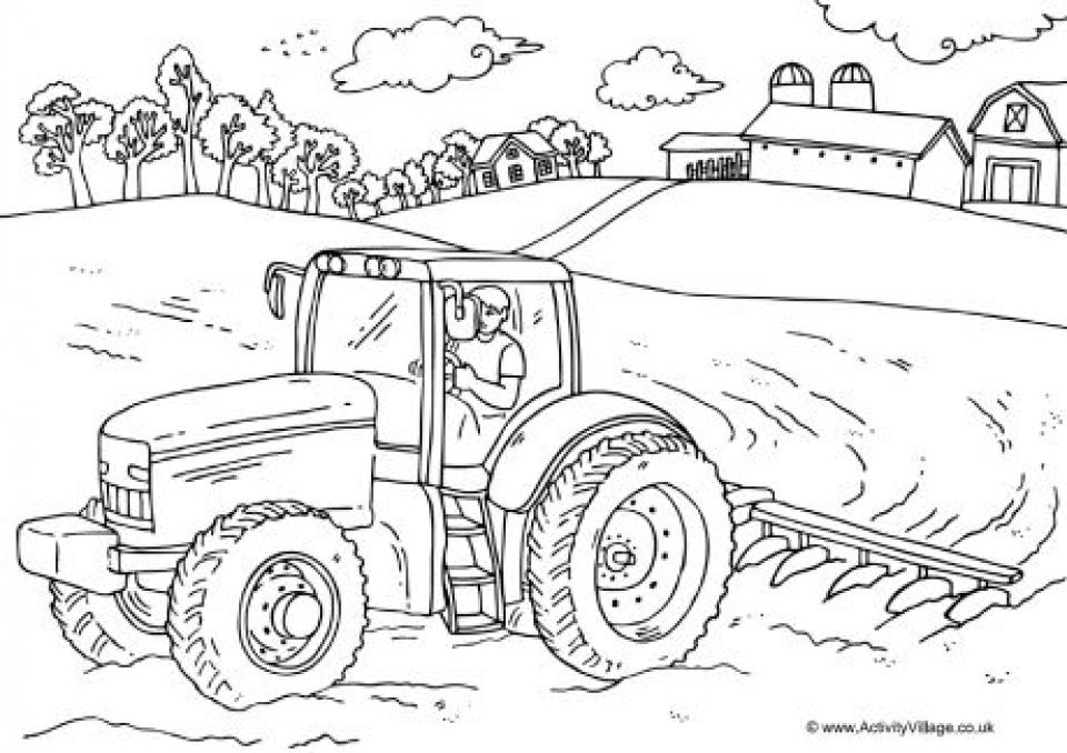 Free Farm Coloring Pages   VQKC2