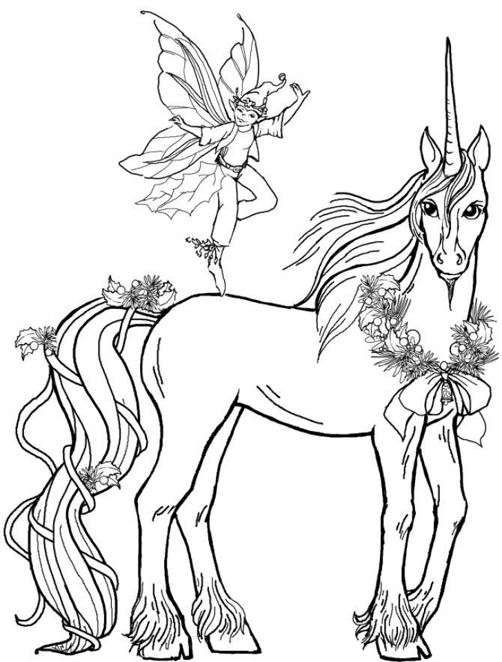 Free Printable Unicorn Coloring Pages for Adults   KA091