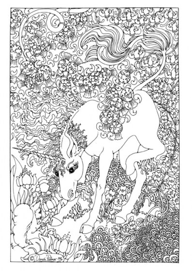 Free Printable Unicorn Coloring Pages for Adults SW395