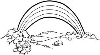 Free Rainbow Coloring Pages 2srxq